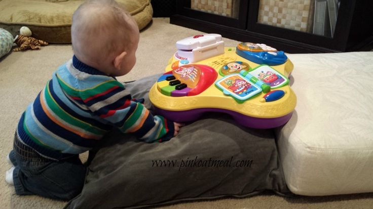 """""""I would not encourage you to put your bay in this position if you notice that your baby's back sways in."""" Pink Oatmeal PT"""