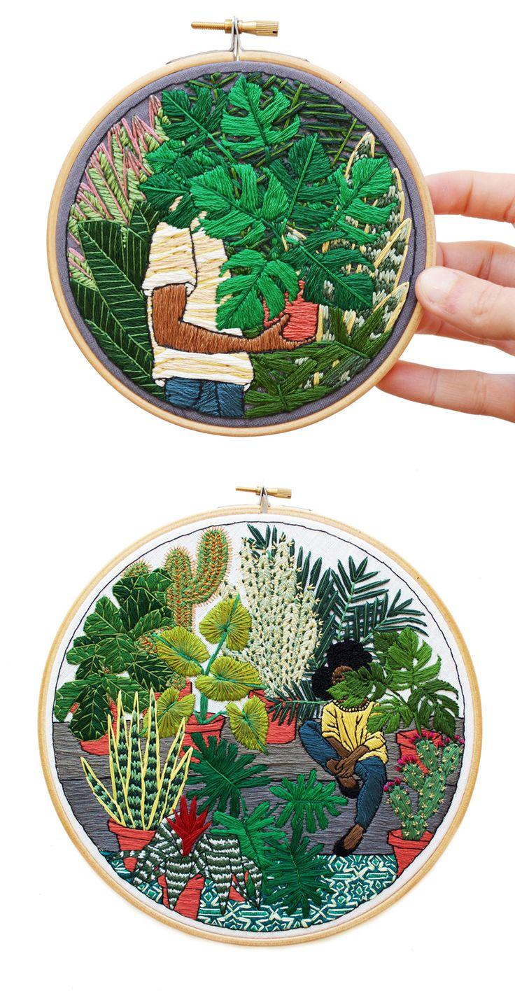 Modern embroidery artists makaroka