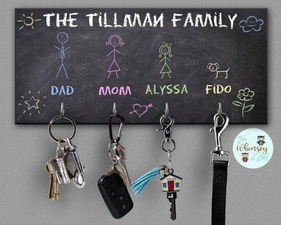 Housewarming Gift Leash Hook Key Hanger Chalkboard
