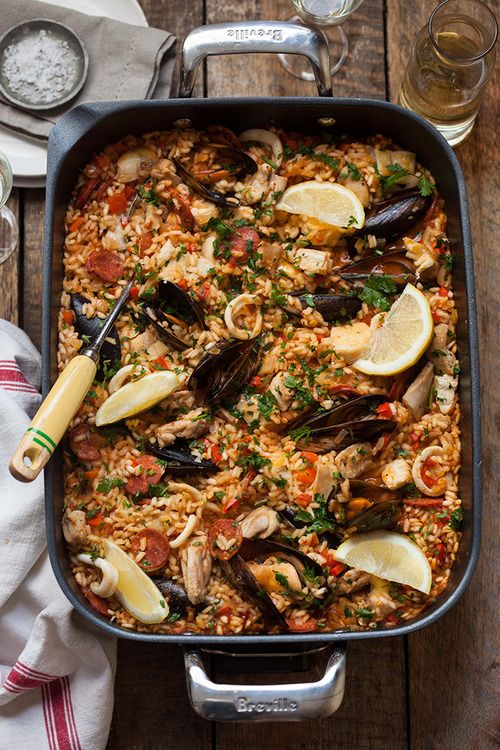 Paella w/ lots of lemon