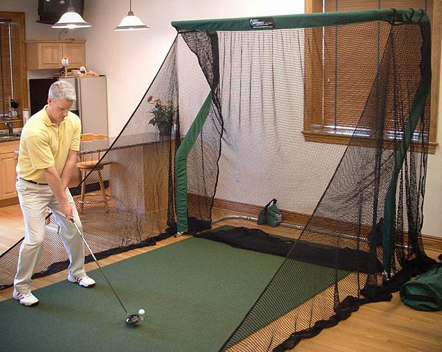 I'm 99% sure my wife would be okay with this in the living room. Indoor Golf Trainer