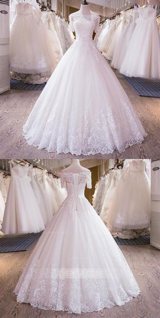 Quick Sleeves Off Shoulder Wedding ceremony Clothes,Lace Beaded Bridal Clothes