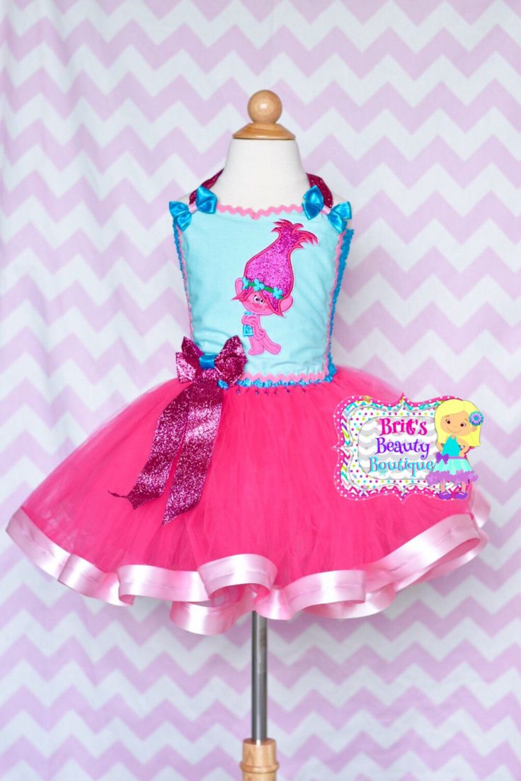Inspired by Trolls Poppy Tutu Ribbon Dress/Trolls Tutu/Trolls Dress/Poppy Costume/Halloween Costume/Pageant Wear/Character Tutu Dress by BrittsBeautyBoutique on Etsy https://www.etsy.com/listing/498067843/inspired-by-trolls-poppy-tutu-ribbon