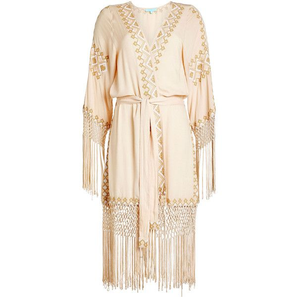 Melissa Odabash Belted Cover-Up ($305) ❤ liked on Polyvore featuring swimwear, cover-ups, beige, bikini cover ups, cover up swimwear, bikini swimwear, melissa odabash bikini and bikini cover up