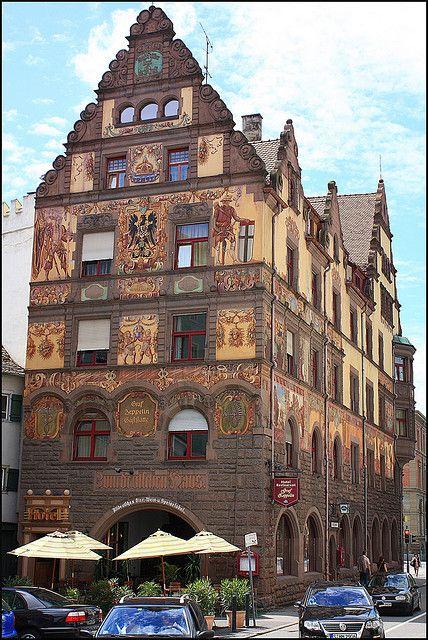 Hotel Graf Zeppelin, Konstanz, Germany, very fine restaurant :) The venue belonged to the real Graf Zeppelin