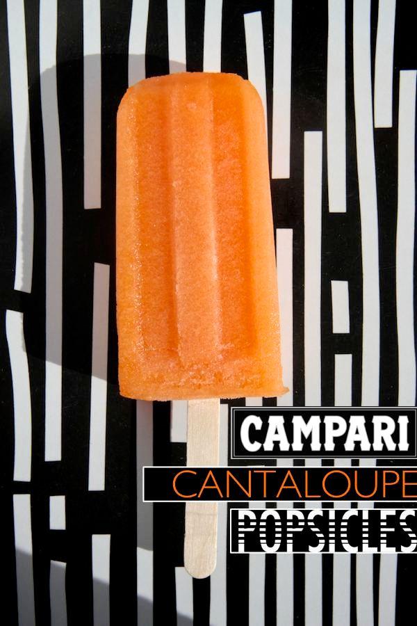 Campari Cantaloupe Popsicles