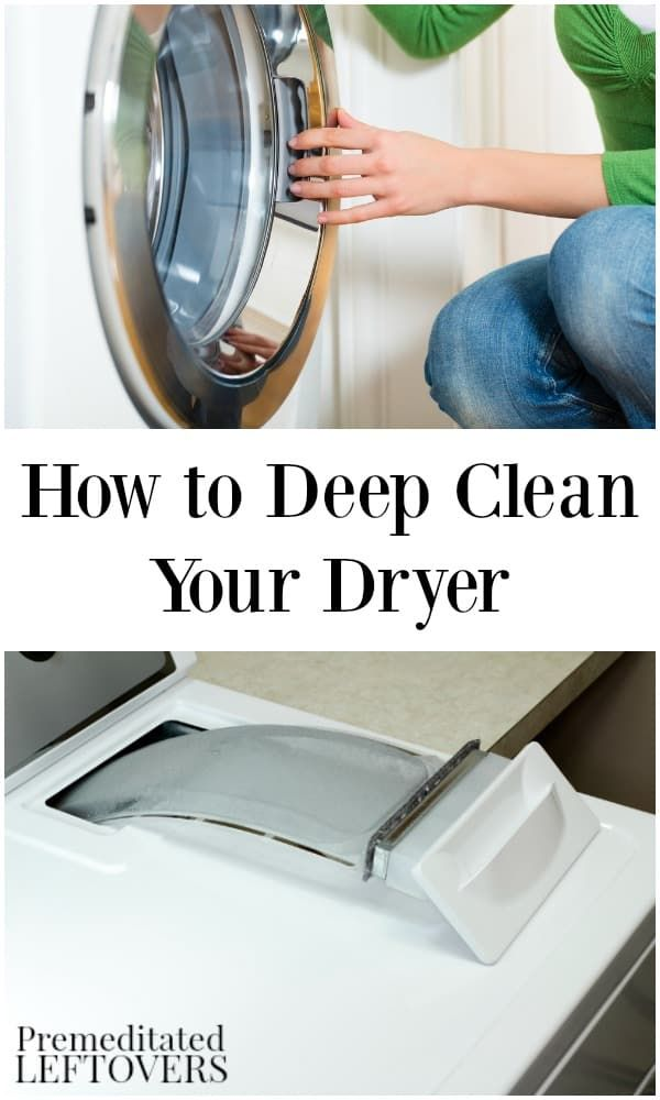 How to clean your dryer. Your dryer is one of those appliances you may seldom clean, but it is important clean it periodically to keep it running efficiently and safely. Here is how to deep clean your dryer from the inside out.
