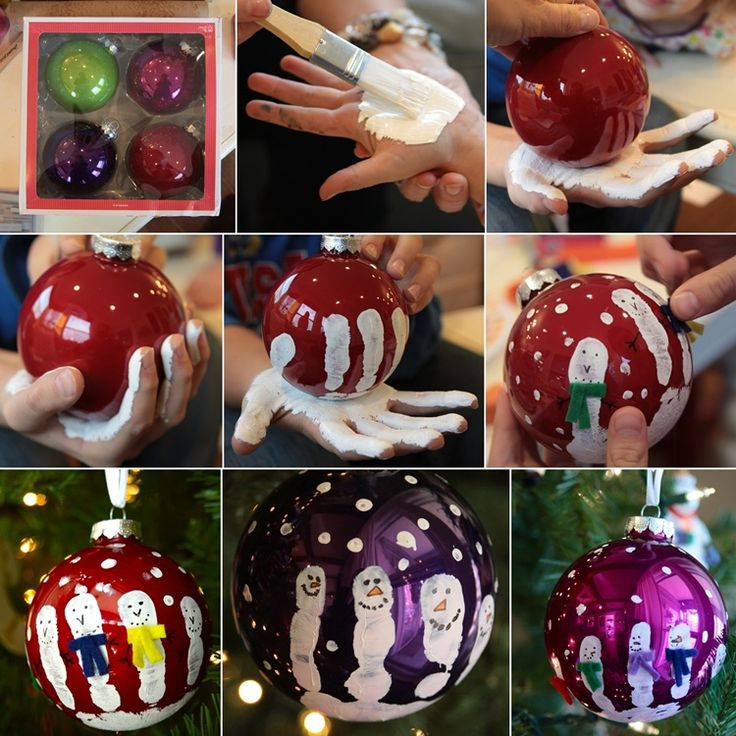 Stunning Handprint Snowmen Ornaments to Decorate Your Christmas Tree   - http://www.amazinginteriordesign.com/stunning-handprint-snowmen-ornaments-decorate-christmas-tree/
