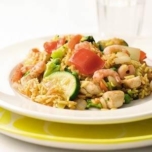 Recept - Snelle paella met kip en garnalen - Allerhande