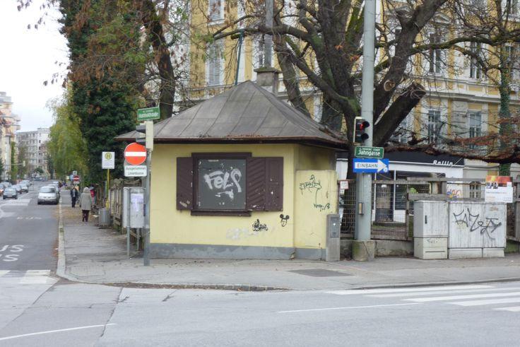 Jahngasse/Ecke Humboldtstraße: der Klassiker unter den Kiosken - eine Tabak Trafik.