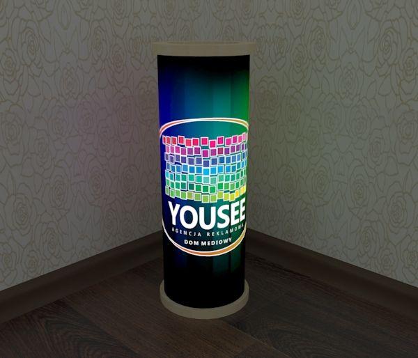 Lampy z logo