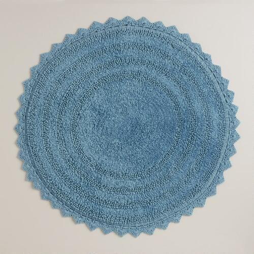 One of my favorite discoveries at WorldMarket.com: Mediterranean Blue Round Bath Mat