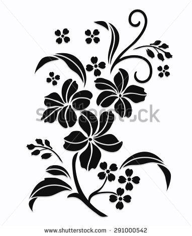 Flower motif,Flower design elements vector,flower design sketch for pattern,lace edge,flower motif - stock vector