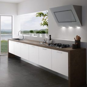 Contemporary Kitchens Without Upper Cabinets – Easy Kitchen by Treo