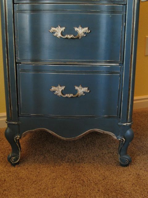 A Brush of Whimsy: Aubusson Blue Desk