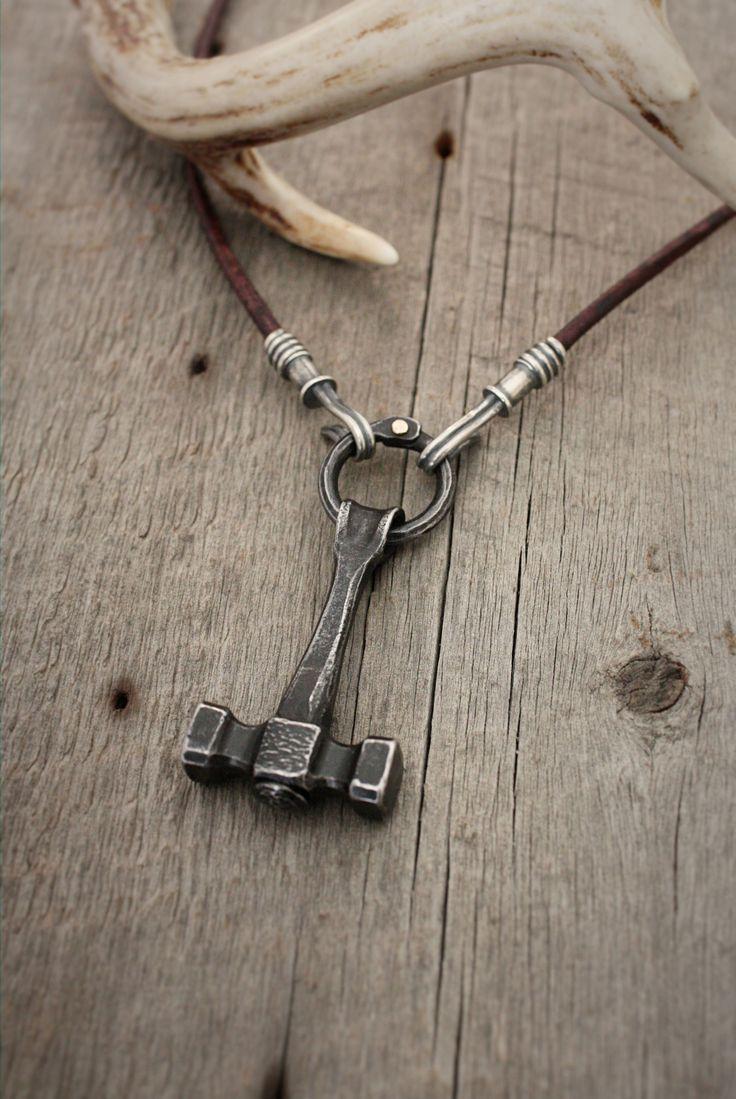 Thor S Hammer Blacksmith Hammer Necklace Forged Steel