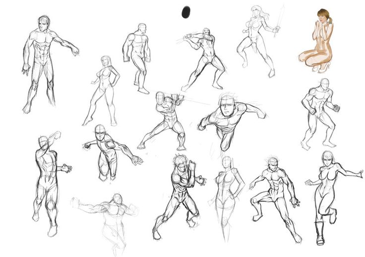 Pictures: Sketch Poses, - Drawings Art Gallery