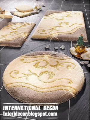 Great Yellow Bathroom Rug Set Model, Modern Bath Rug Sets, Colors