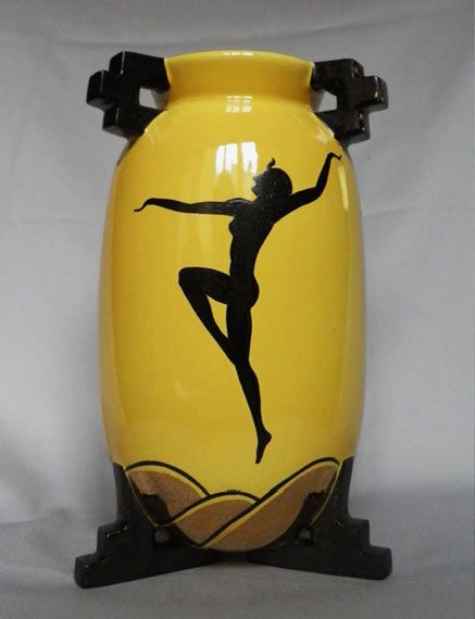 Portuguese Art Deco Vase with Egyptian dancer – Fructuoso Coimbra – 1930's