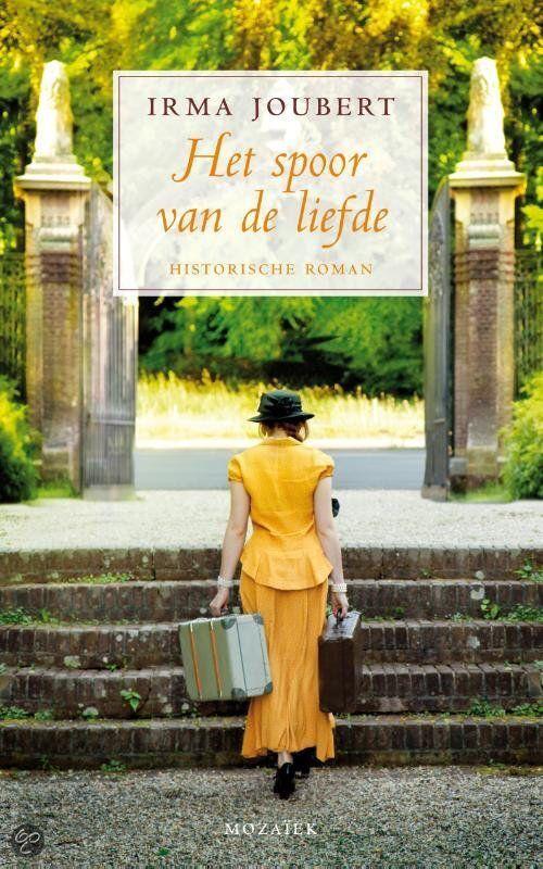 """22/53 Irma Joubert - Het spoor van de liefde. De boek vertelt het verhaal van de adoptie-ouders van Gretl, het weesmeisje uit Polen in het boek """"Het meisje uit de trein""""."""