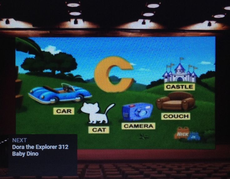 2002: Dora the Explorer - Baby Dino (I see a car, camera, couch and castle)