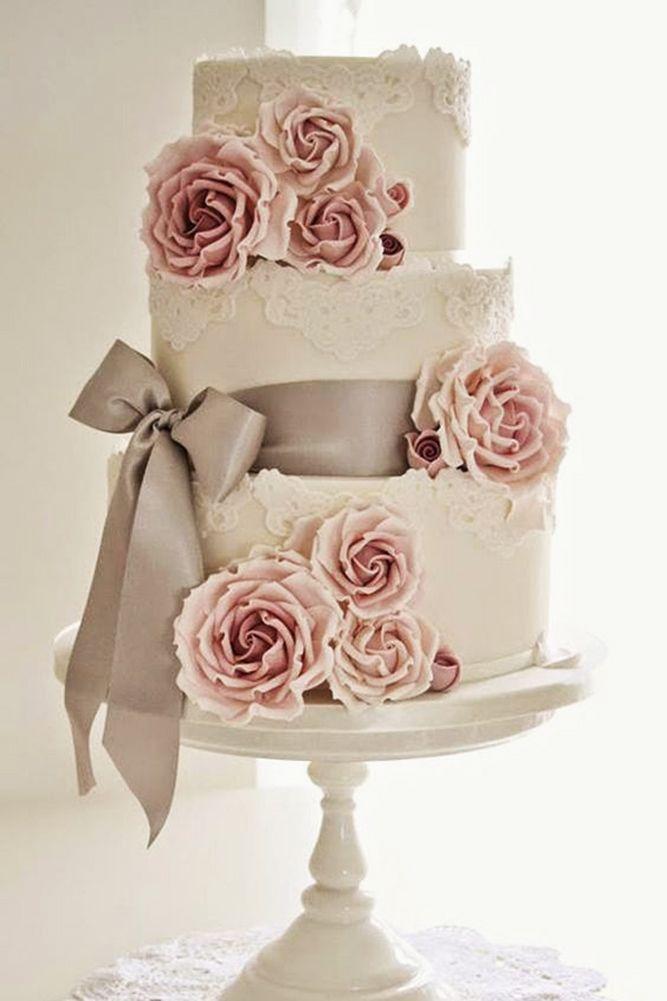 30 Beautiful Wedding Cakes The Best From Pinterest ❤ See more: http://www.weddingforward.com/beautiful-wedding-cakes/ #wedding