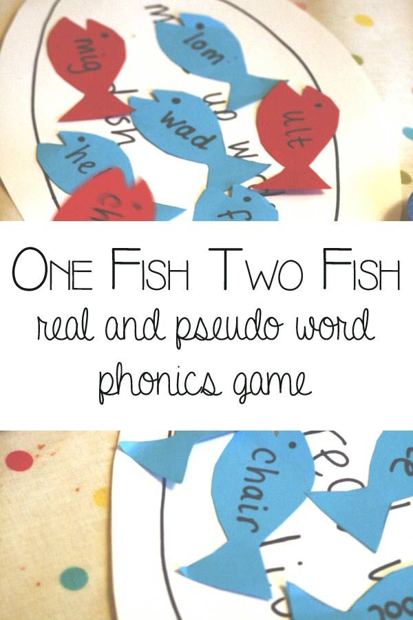 Fun and simple game to work on phonics knowledge based on the book One Fish Two Fish Red Fish Blue Fish by Dr Seuss. Identify real and pseudo words