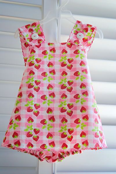 infant dress patterns for sewing | beginners pattern description baby girl dresses and bloomers pattern ...