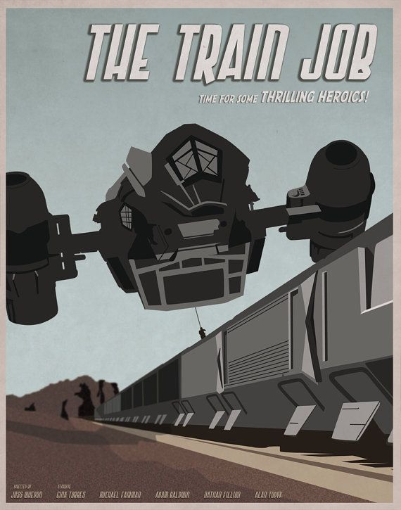 The Train Job  Firefly Illustrated Poster by OperationInk on Etsy