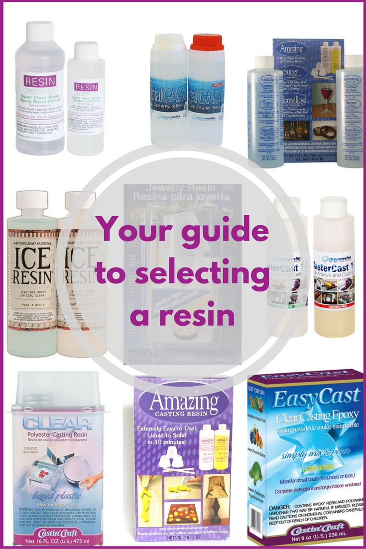 Link to a PDF guide on the details of several resins