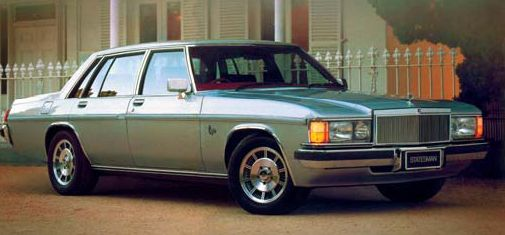 The (WB) Statesman       (No Holden branding)                              The last of Holden's 'Top of the Line'   The WB was released in 1980               and discontinued in 1984