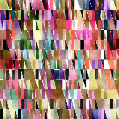 Watercolor Triangles fabric by joanmclemore on Spoonflower - custom fabric