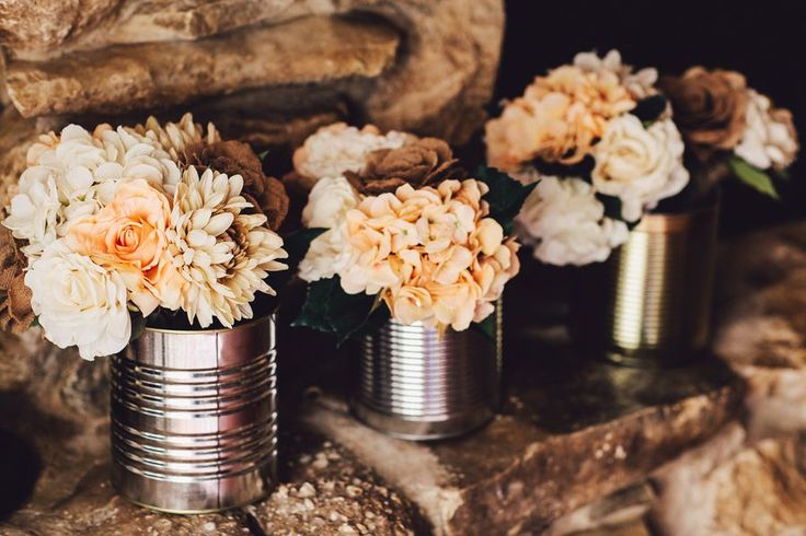 Tin Can Wedding Vases