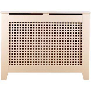 Mondo MDF Radiator Cabinet - White - 90x120cm from Homebase.co.uk