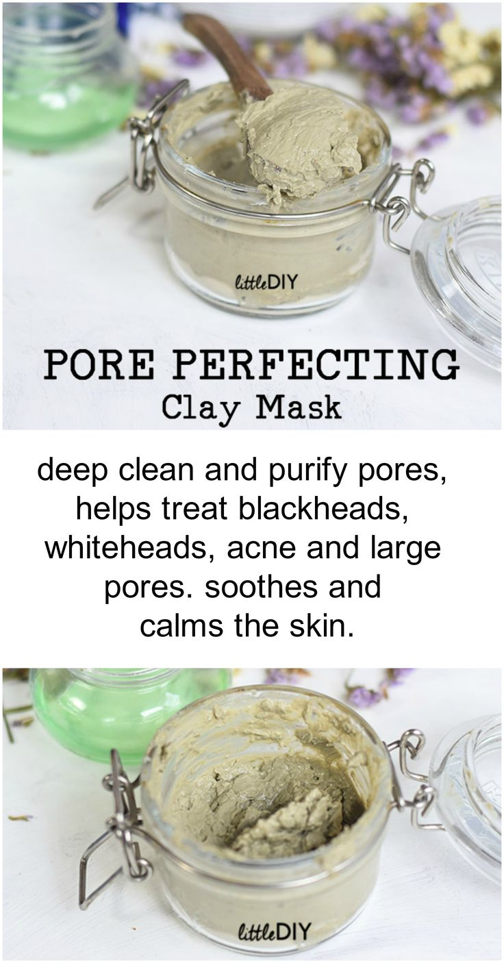 DIY PORE PERFECTING CLAY MASK – to minimize pore…