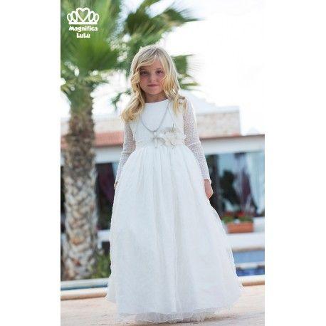 Lo que buscas! Vestido para primera comunión de la marca Magnífica Lulú en la sección Outlet de Ceremonia. Aprovecha esta oportunidad única www.pepaonline.com
