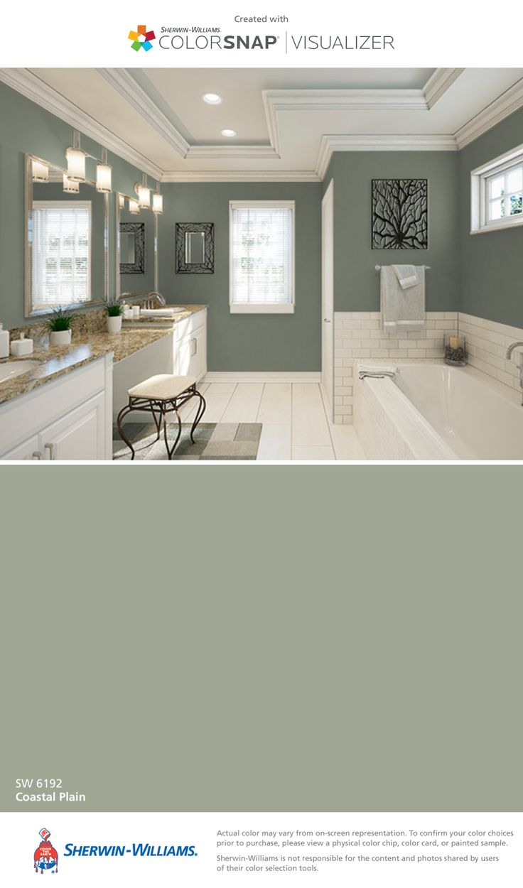 I found this color with ColorSnap® Visualizer for iPhone by Sherwin-Williams: Coastal Plain (SW 6192).