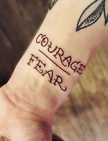 Courage over Fear Thanks Sam Potorff for the idea :)