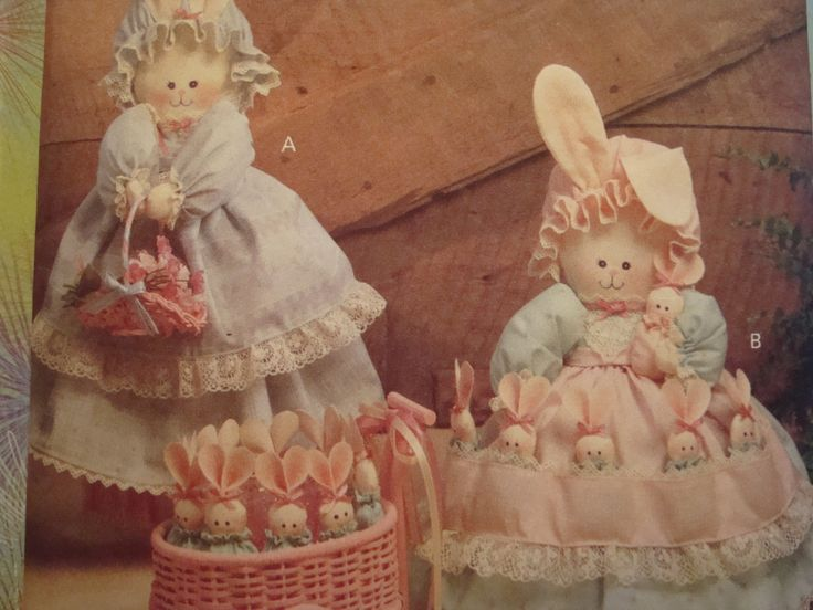Mother Bunny And Babies Sewing Pattern/ Butterick Crafts 6029 Luv 'N Stuff, Bunny Hide-Away with Mommy Rabbit and Eight Baby Bunnies by RedWickerBasket on Etsy
