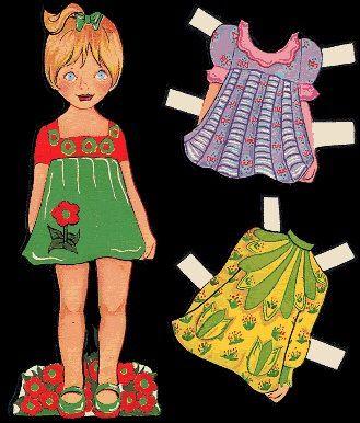 Paper dress up dolls