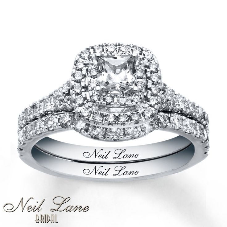 Neil Lane Bridal Set 1 1/3 ct tw Diamonds 14K White Gold | My absolute DREAM ring!