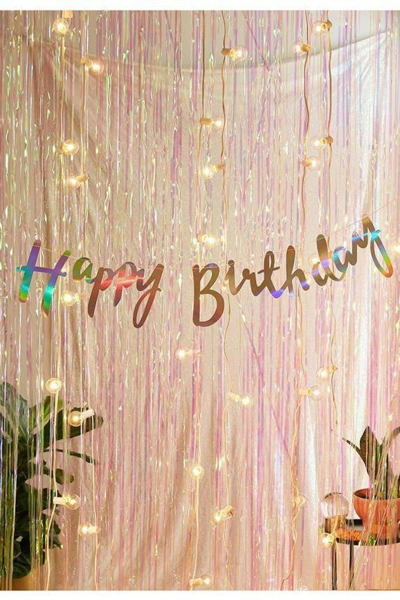 ROSE GOLD BLUSH STRING DECORATIONS ~ Birthday Party Supplies Foil Cutouts 6