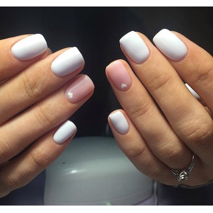 Heart nail designs, Hearts on nails, Ideas of winter nails, Manicure on the day of lovers, ring finger nails, Short nails 2017, Spring nail art, Stylish nails