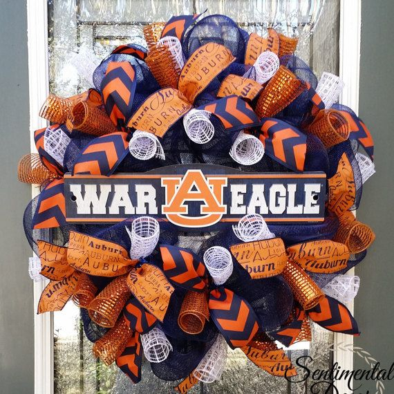 Auburn Wreath,War Eagle Wreath,Alabama Wreath,Auburn Tigers,AU Pride,Auburn University Football,Deco Mesh Wreath,Tailgate Party,Fall Wreath