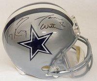 Tony Romo & Jason Witten Dual Signed Dallas Cowboys Riddell Full Size Replica Helmet - PSA/DNA