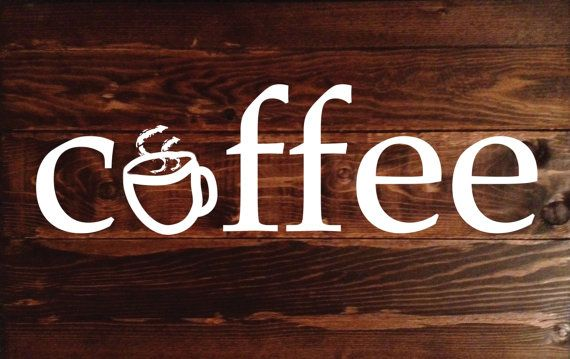 Distressed Wood Coffee Sign by BriarBoards on Etsy # ...