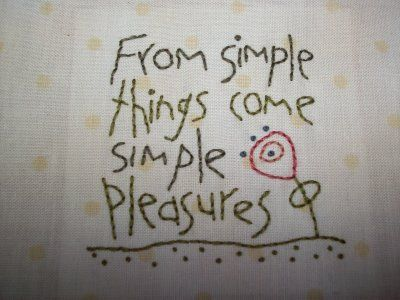 Anni Downs design ~ From Simple Things Come Simple Pleasures
