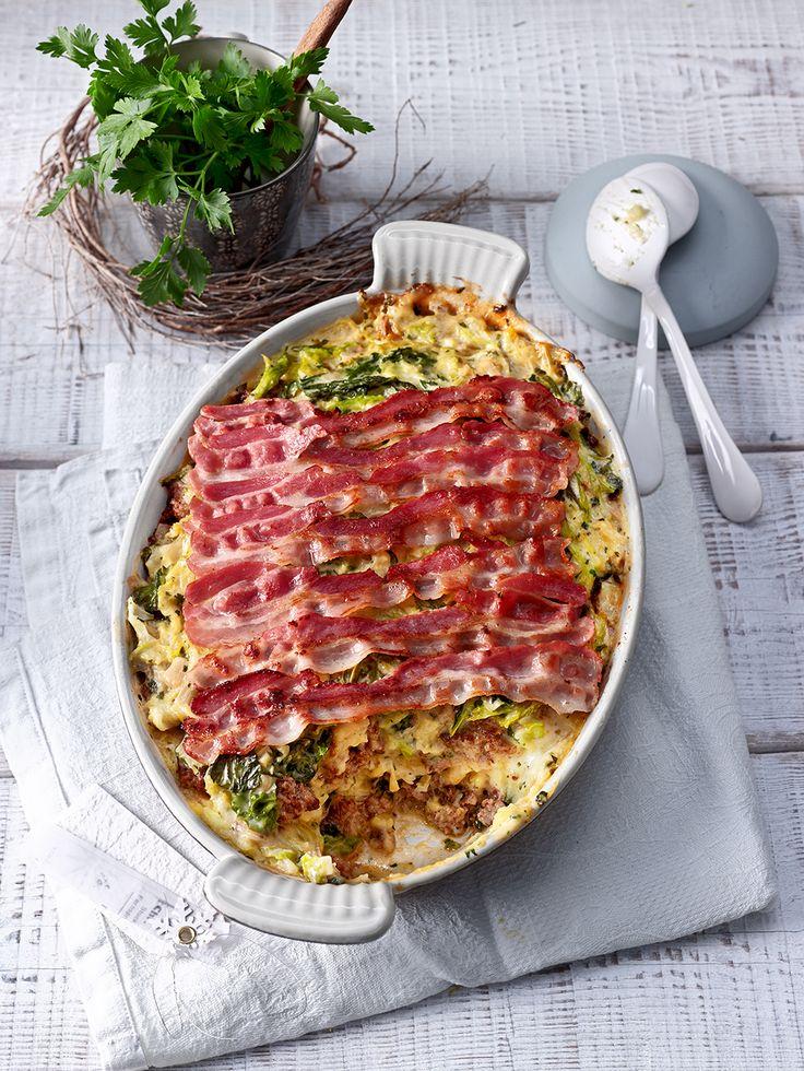 Wirsing-Hackfleisch-Auflauf mit Speck – Chefkoch
