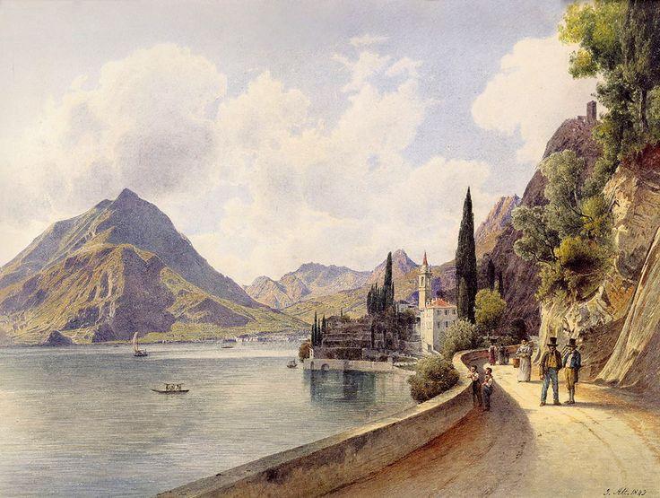 Varenna at Lake Como by Rudolf von Alt, 1843