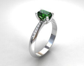 3.21ct Green Tourmaline engagement ring by TorkkeliJewellery